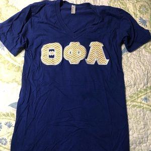 Theta phi alpha letters T-shirt